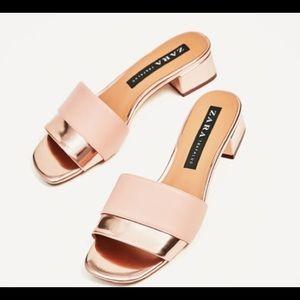 Zara Pink/Metallic Shoe