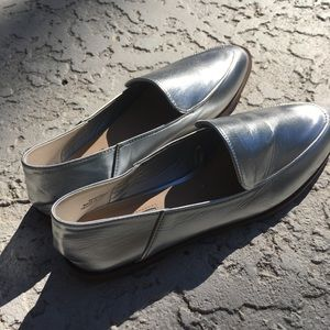 Silver loafers size 6.5