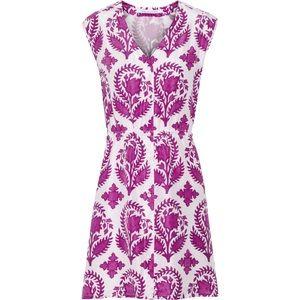 Diane Von Furstenberg Floral Print Lilac Dress