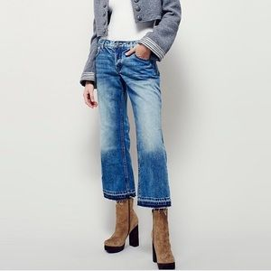 Free People Chelsea cropped flare jean