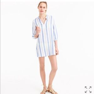 Jcrew Cropped Cotton Beach Tunic. NWT. Size Med.