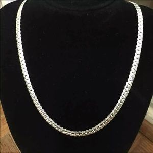 New unisex 925 silver plated necklace
