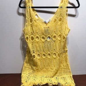 Hot yellow cover up to take to the beach.