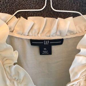 Gap silk top with accent neckline.