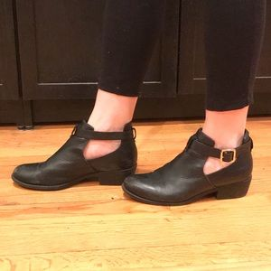 Topshop cut-out booties (size 8/8.5)