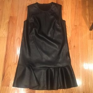 BCBG Max Azria black faux leather dress.