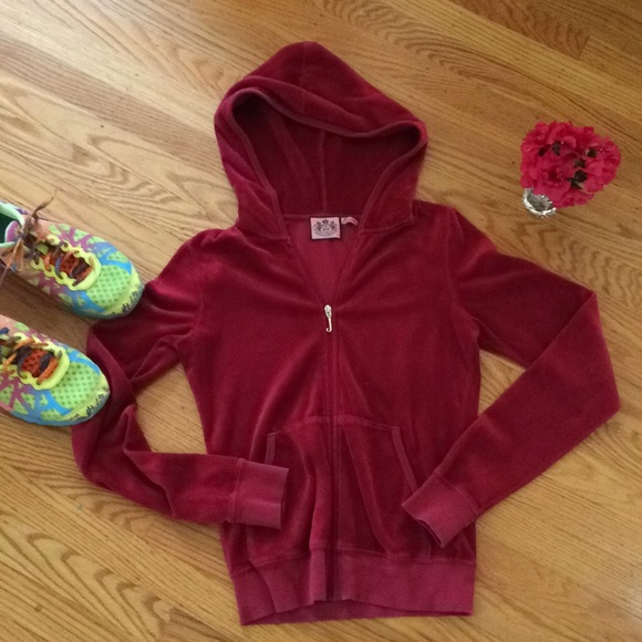 298cb13a32 Juicy Couture Tops - 🌺 Juicy Couture - Wine Velour Jacket Misses XS S!