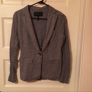 BCBG grey knit blazer