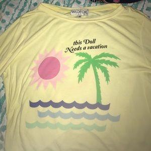 "Wildfox sweatshirt ""this Doll Needs a vacation"""