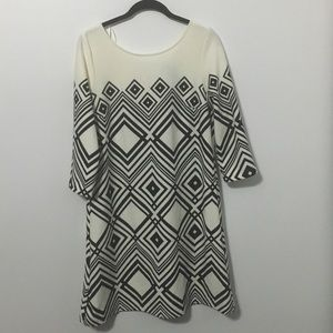 Taylor Black Cream Dress Work Christmas Party $68