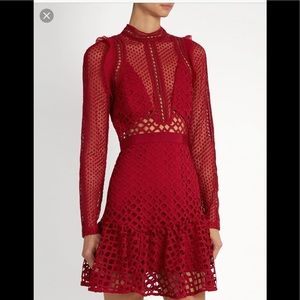 92153771e6f0 Dresses | Nwt Self Portrait Style Red Lace Dress | Poshmark