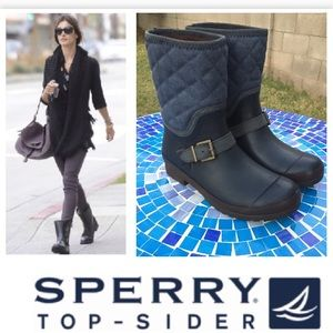 FABULOUS Sperry TopSider Walker quilted rain boots