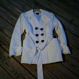 NWOT Express White Raincoat 🎄