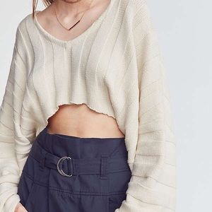 UO Slouchy ribbed high low sweater