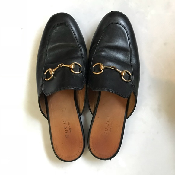fb1e1b6ba4c Gucci Shoes - GUCCI Princetown Loafer Mules w Gold Horsebit
