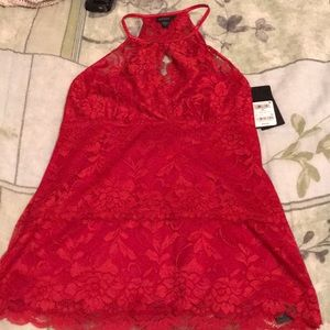 Red lace blouse from guess