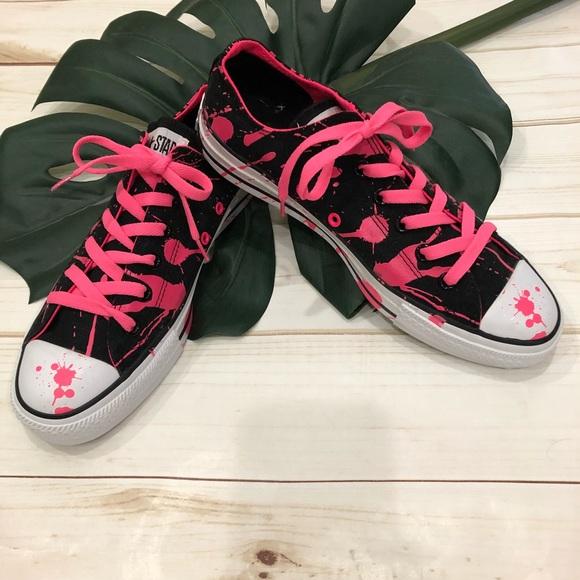 0bfdd1c62989c9 Converse Shoes - 🌷Converse All Star Chucks pink paint splatter!