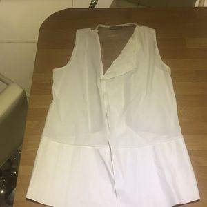 Mesh back white Zara top never worn