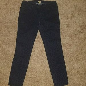 True Religion Cheetah Print Skinny Pants