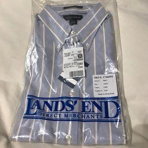 Men's Lands' End Hyde Park button down shirt, 15h