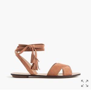 J.Crew lace-up suede sandals