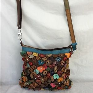 Handbags - Crossbody with leather flower details