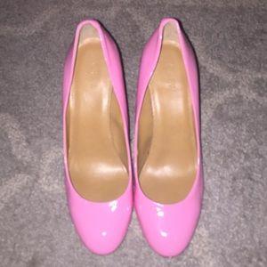Bubblegum pink JCREW Brand New sz 10 patent heels