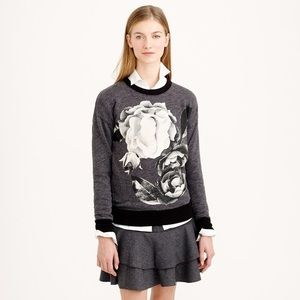 J. Crew Oversize Sweatshirt In Exploded Floral