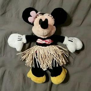 Minnie Mouse Hawaii grass skirt plush