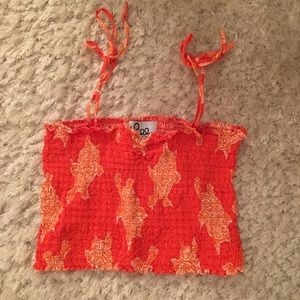 🦀 LILLY PULITZER Orange Cropped Tank Top
