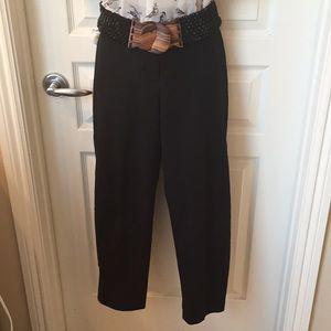 Ann Taylor Black Julie Cropped Pants Size 6