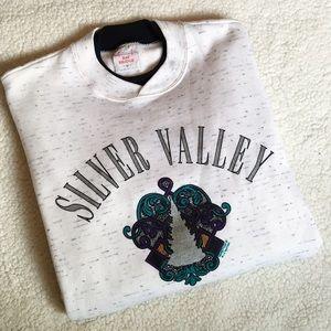 Silver Valley Idaho Vintage Crewneck Sweatshirt