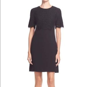 Ted Baker Anita Lace Shift Dress in Black