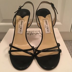 Jimmy Choo Black Sling Back Shoes