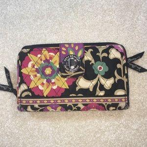 Vera Bradley Zip Checkbook Wallet Clutch