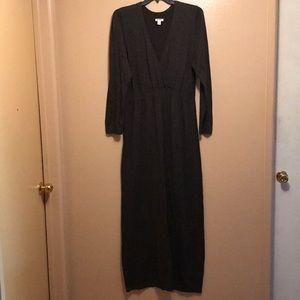 Old Navy charcoal gray maxi dress