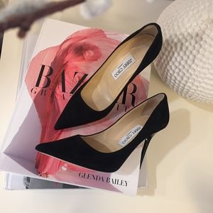 New in Box JIMMY CHOO Abel Black Suede Pumps, 36