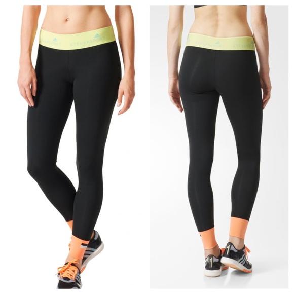 887a97145fd Adidas by Stella McCartney Pants - Adidas Stella Sport Black Running  Leggings