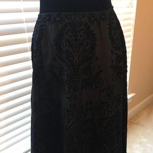 Beautiful velvet/taffeta brocade Skirt