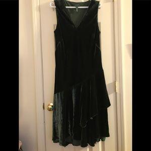 Ralph Lauren dark green velvet dress