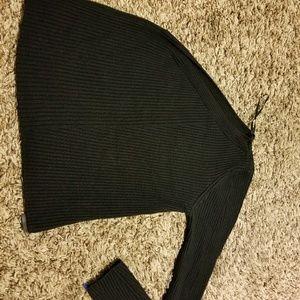 Zara One Sleeve Knit Crop Top