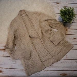 LOFT Textured Cardigan with Pockets