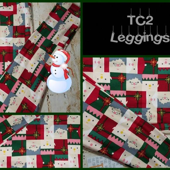 6b39cd46d0d133 LuLaRoe Pants | Sale Mrs Claus Tc2 Llr Legging Shipping 2day | Poshmark