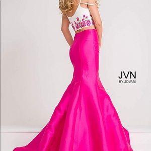 Pink 2 piece floral mermaid