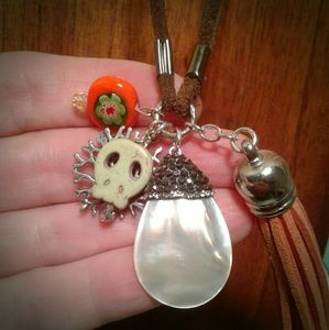Jewelry - HALLOWEEN TASSEL Necklace w/Sterling & STONES
