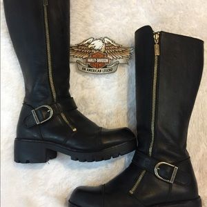 Tall Harley Davidson All Leather Boots