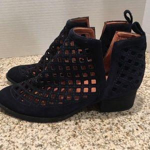 Jeffrey Campbell Taggart Cutout Dark Navy Boots
