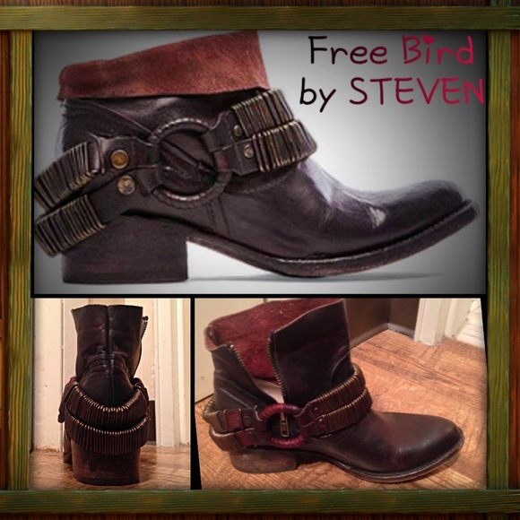 a3546221c21 🍋NWOB FREE BIRD by STEVEN- Eve Harness Bootie NWT