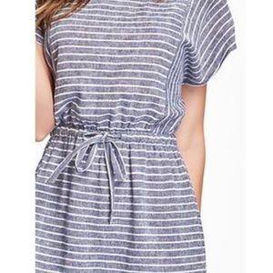 NWT Striped Chambray Tunic Dress