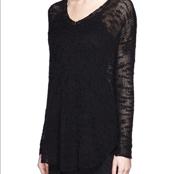 5af7ac9d35f3e Helmut Lang Sweaters - Helmut Lang silk open knit sweater black
